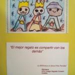 TARJETA NAVIDEÑA DE LA BIBLIOTECA 1718