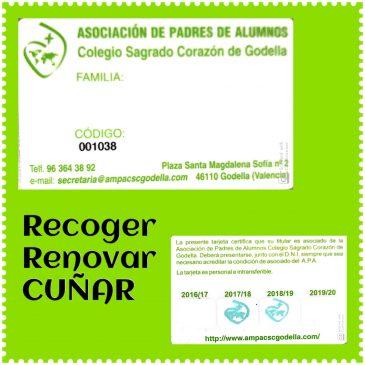 RECOGIDA CARNET ASOCIADO